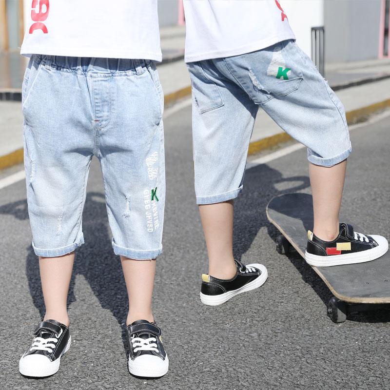 童装男童儿童夏季牛仔短裤2019新款韩版洋气帅气五分薄款七分中裤