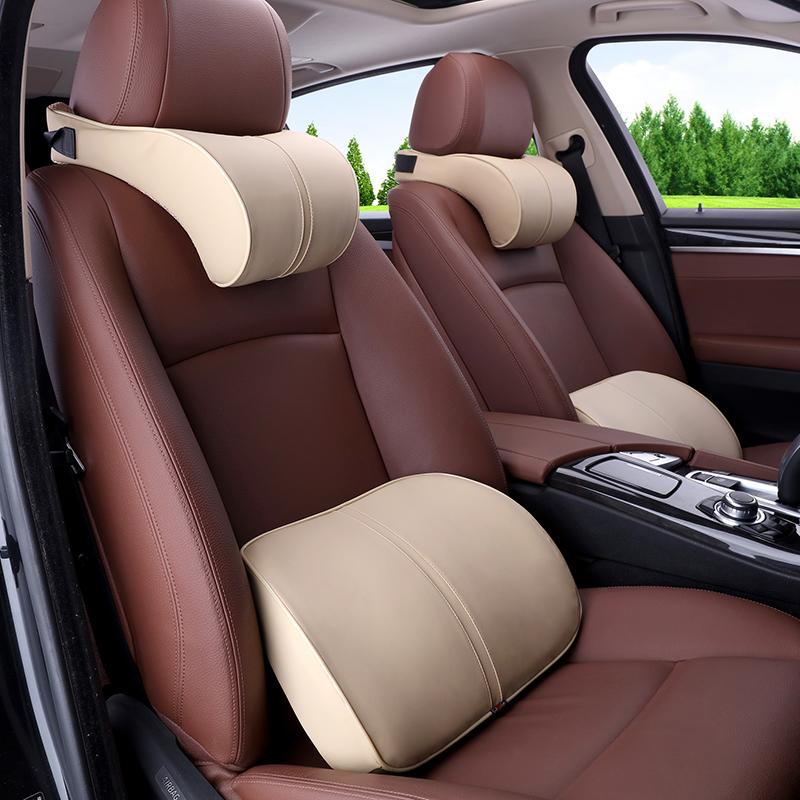 汽车头枕护颈枕用品记忆棉靠枕座椅颈椎一对车内车载车用枕头车座