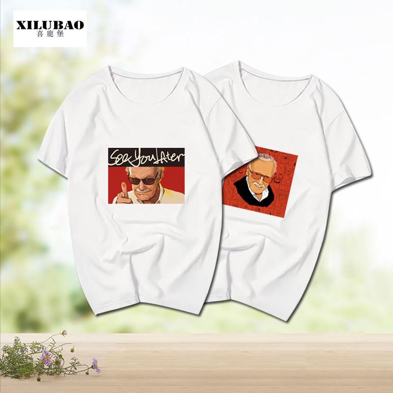 纪念斯坦李T恤男签名漫威之父漫画Stan Lee短袖衣服可定制短袖