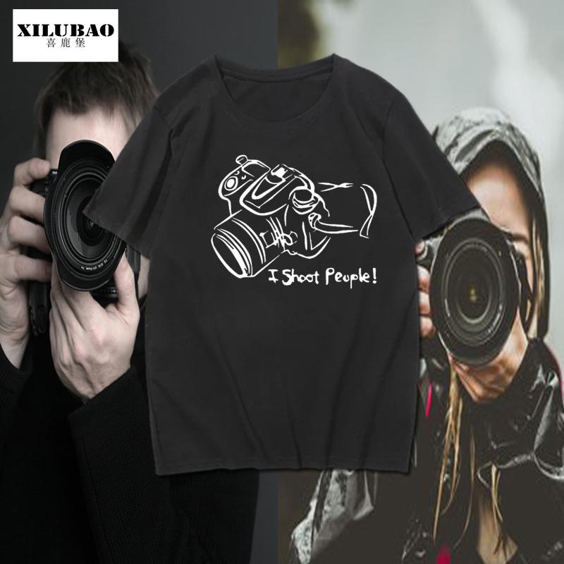 摄影师摄像师纯棉短袖t恤数码单反相机光圈科技半截袖t恤男潮流