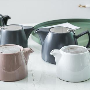 陶瓷茶壶不锈钢过滤冲茶器家用泡花茶壶具带滤网