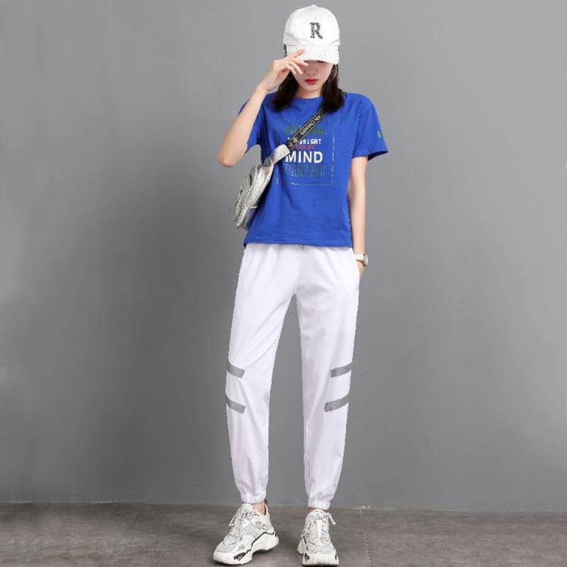 小个子新款曳步舞潮牌套装女夏短袖嘻哈广场舞运动服装休闲两件套