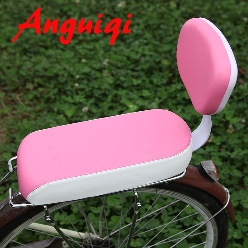 自行車后座墊帶靠背加厚單車貨架後坐墊舒適載人兒童座椅扶手後置