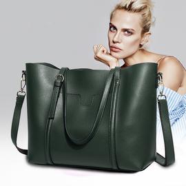 软皮单肩大包包女2020新款大容量托特包手提斜挎包女士真皮包包