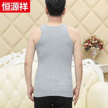 Hengyuanxiang Middle-aged and Old Men's vest Men's pure cotton Old Men's shirt Summer Dad's breathable bottom suction sweater
