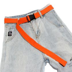 帆布腰带女牛仔裤网红运动户外无铁金属过敏皮带塑料扣休闲裤带防