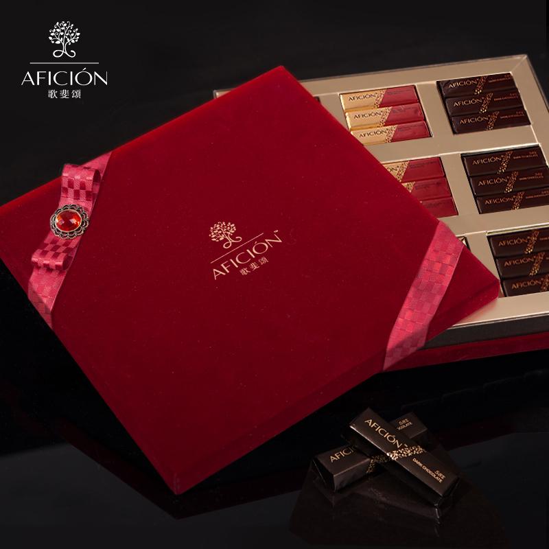 歌斐颂圣诞节黑巧克力礼盒装送女友男友生日周年纪念礼物顺丰图片