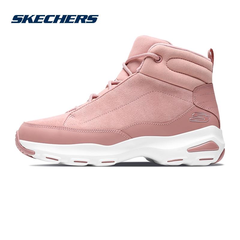 Skechers斯凯奇女鞋新款D'lites熊猫鞋 舒适绒里休闲鞋66666138