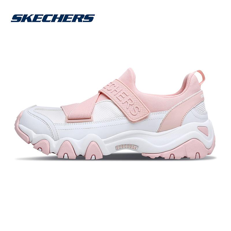 Skechers斯凯奇情侣新款D'lites熊猫鞋一脚套男女休闲鞋88888158