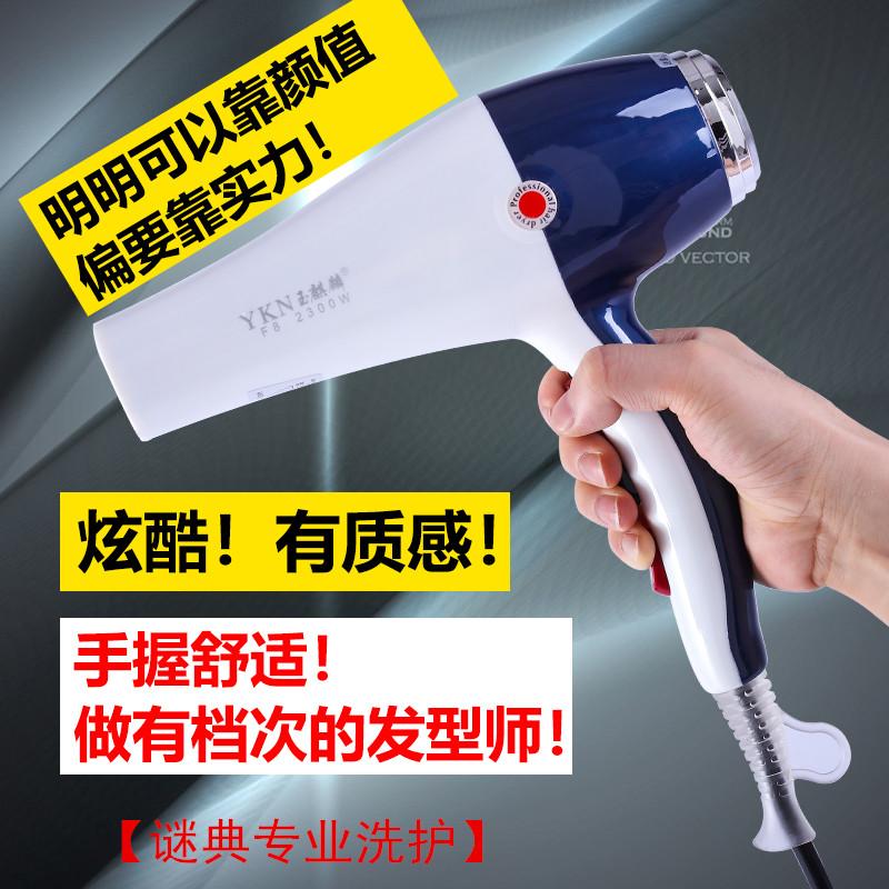 玉麒麟F8吹风机2300W大功率理发店发廊家用专业冷热电吹筒负离子