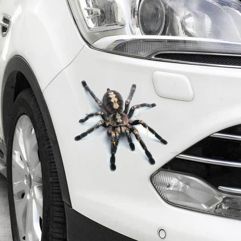 汽车3D立体贴纸防水划痕装饰改装贴遮挡车身贴创意油箱盖后视镜贴