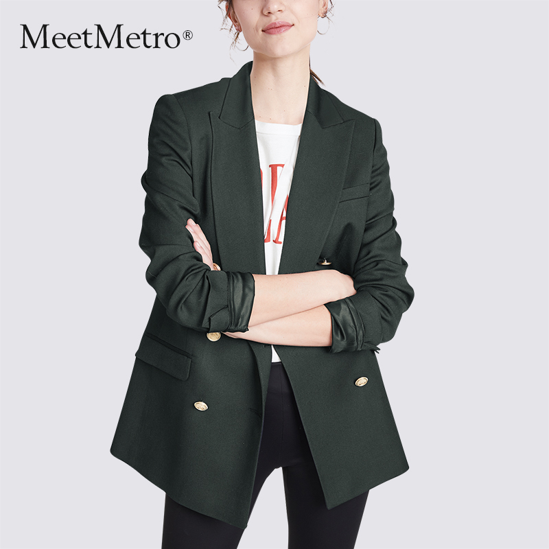 Meetmetro 2020 spring new suit coat femininity casual top Korean British small suit