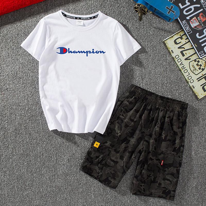 限50000张券男童套装童装中大童夏季短袖两件套儿童洋气夏款纯棉T恤短裤潮版