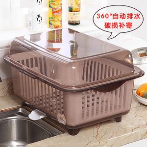 领2元券购买碗筷收纳盒特大号家用塑料放沥水篮