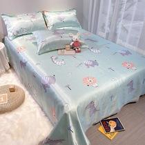 夏季冰丝凉席三件套1.5m1.8米床席子可折叠水洗床单款空调软席子