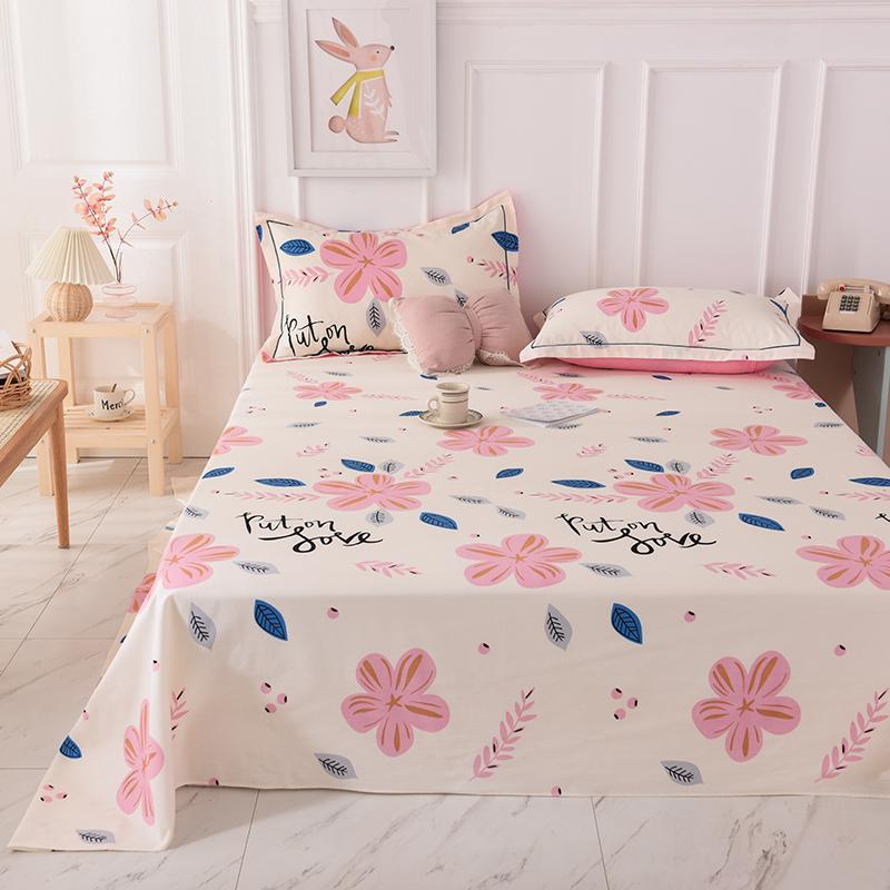 加厚纯棉磨毛单件床上用品床单好不好