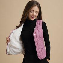 保暖加厚加绒马甲女冬季短款韩版羽绒棉背心女轻薄打底羊羔绒紧身