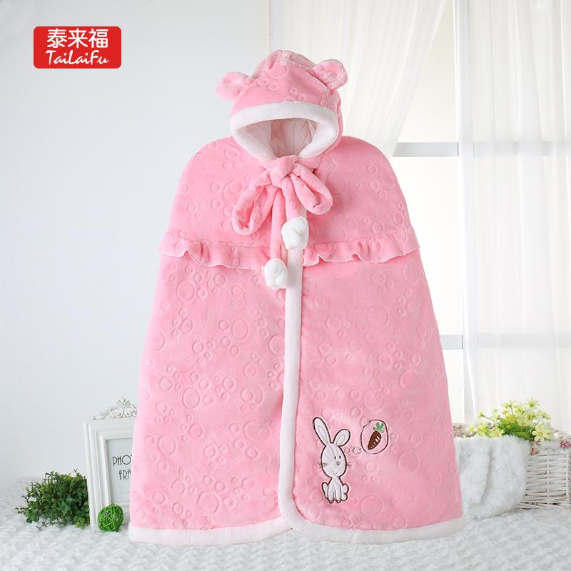 冬季婴儿披风斗篷保暖披肩外套