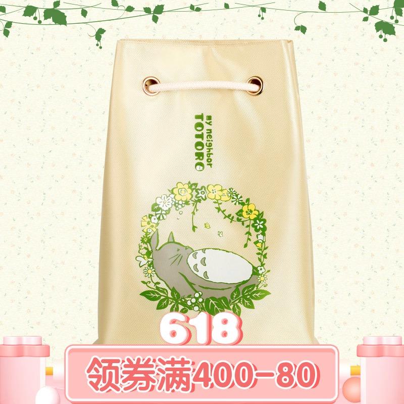 龙猫背包 书包 幸运石二次元动漫周边 宫崎骏TOTORO束口袋 双肩包