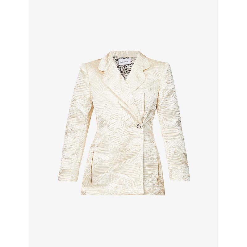 Art dealer 2020 textured Satin suit womens coat