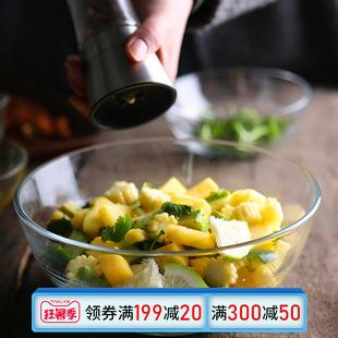 碗 创意透明餐具搅拌打蛋碗 家用大号水果沙拉碗泡面碗玻璃汤碗图片