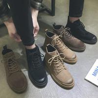 查看春季马丁靴男高帮加绒英伦风工装靴男中帮韩版潮ins短靴子男棉鞋价格