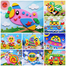 EVA three-dimensional stickers 3D stickers children's handmade materials package kindergarten small class diy puzzle creative toys