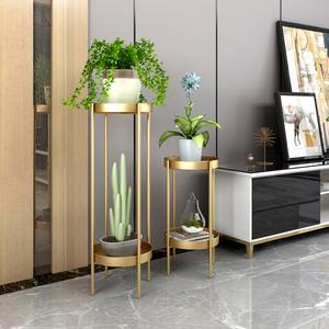 客厅花架ins北欧花架子简约现代落地式轻奢多层置物架室内花盆架
