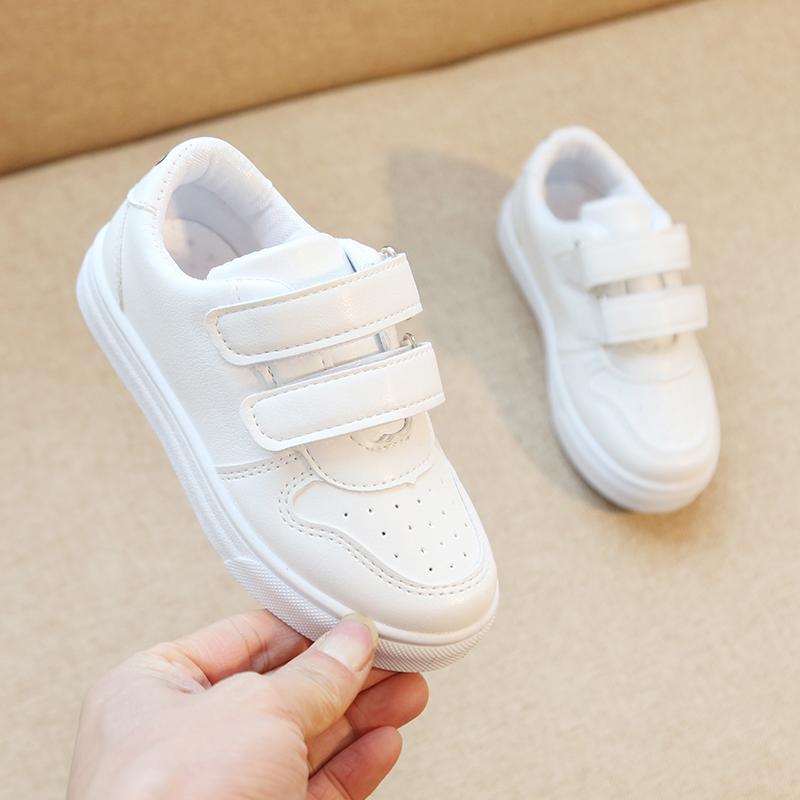 女童2019春秋透气男童鞋子白色童鞋券后29.90元