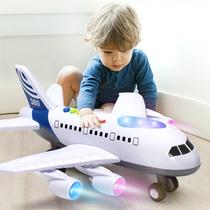 儿童玩具飞机男孩宝宝超大号音乐耐摔惯性玩具车仿真客机模型A380