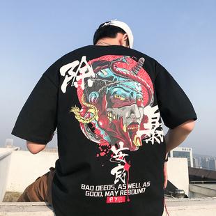 2019新款夏季短袖潮寬松圓領t恤