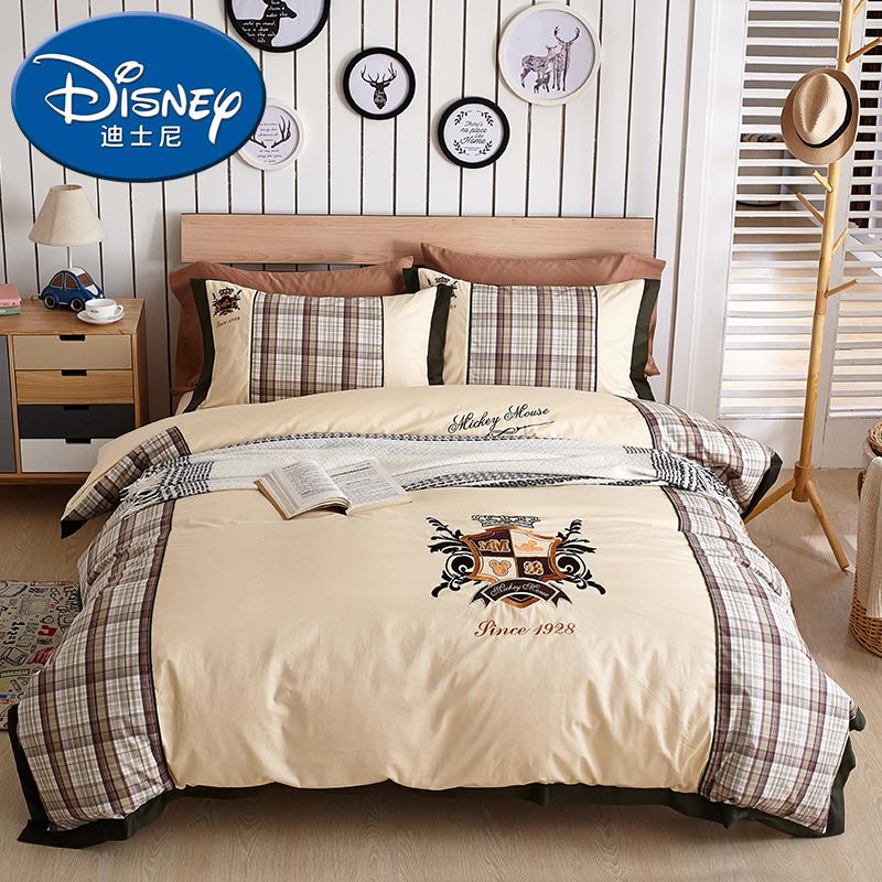 Южный полюс человек X disney хлопок детская кроватка статья хлопок вышивка четыре части студент три образца королевский микки