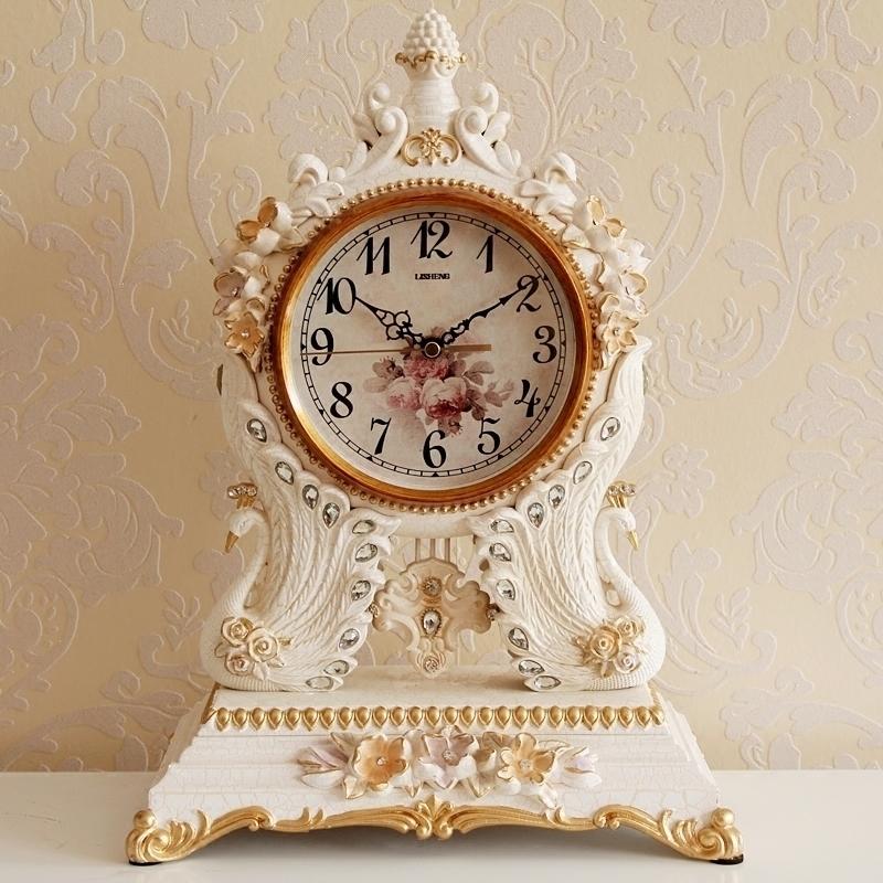 欧式座钟客厅家用个性创意时钟摆件现代静音时尚台式钟表桌面坐钟 Изображение 1