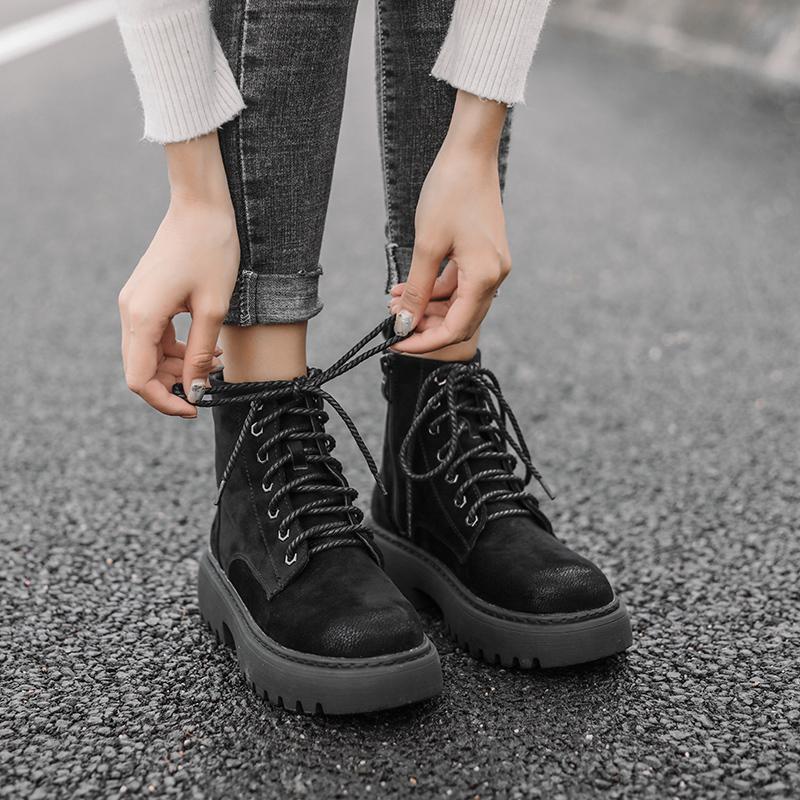 凯蔓莉马丁靴女英伦风2019夏季新款韩版百搭网红粗跟短靴女透气潮