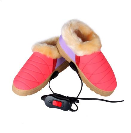 Электрический обогреватель обувной зарядка может хорошо идти женщина теплые хлопок шлепанцы мужчина зима отключен отопление лихорадка старики комнатный теплых ног.