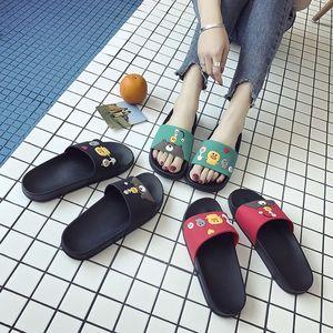 室内女夏2018新款家居家用浴室原宿风防滑拖鞋女外穿软底时尚学生