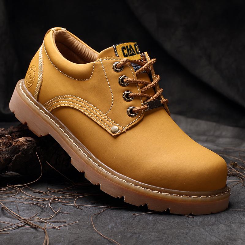 2019 mens shoes big shoes mens casual shoes low top British retro tooling shoes Martin Shoes Fashion Boots Mens shoes