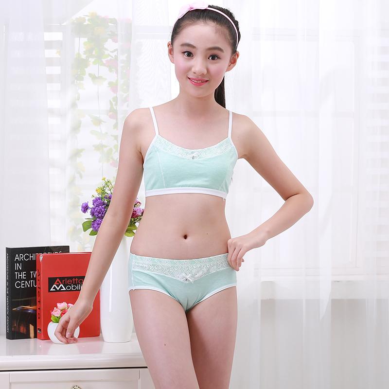 Girls underwear vest child development period 9-12 years old bra girl big  children underwear