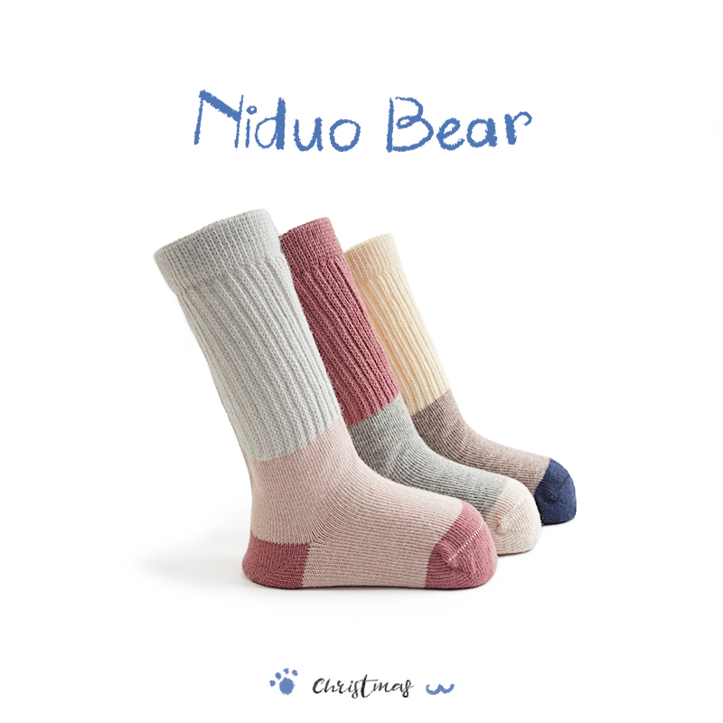 Nido bear socks baby socks spring, autumn and winter cotton baby socks