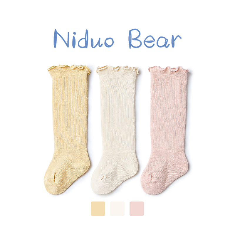 Nito bear baby summer long tube socks spring and summer cotton baby high stockings newborn knee thin anti-mosquito hose