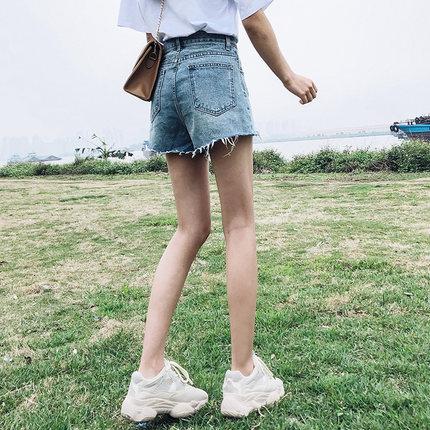 a字网红高腰夏天短裤外穿牛仔裤