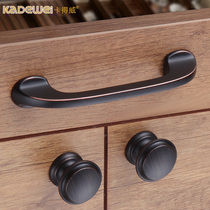 Square American handle cabinet door handle wardrobe modern simple single hole drawer cupboard cabinet Kitchen black Bronze