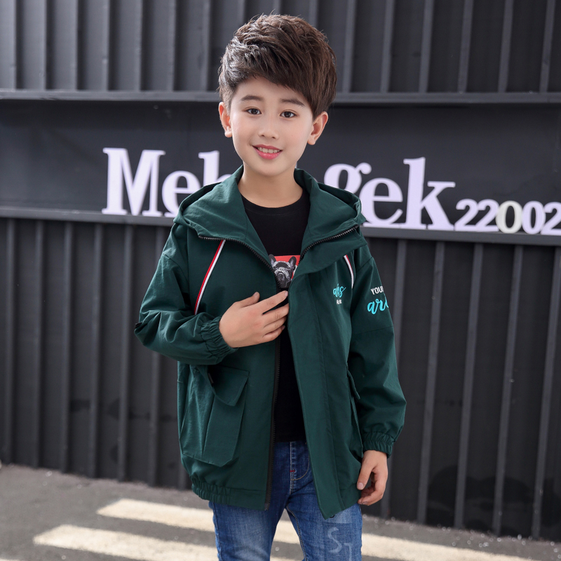 CUHK boys spring and autumn coat 2019 new autumn childrens wear 10-year-old boys foreign style jacket trendy top 15