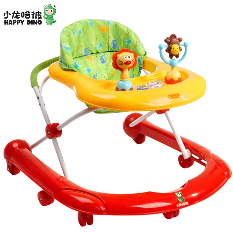 好孩子小龍哈彼嬰兒學步車防側翻u型多 可折疊寶寶7~18個月