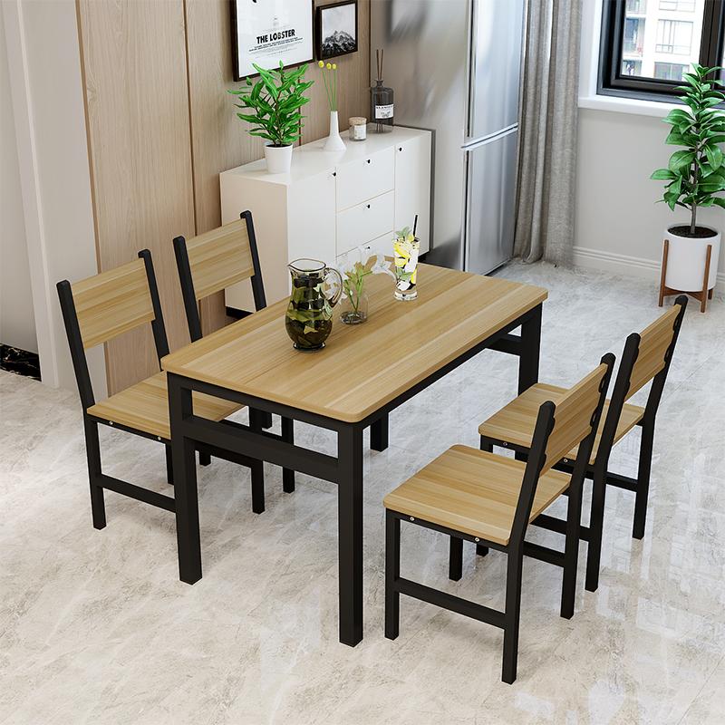 快餐桌椅组合小吃奶茶甜品汉堡店小吃店烧烤餐桌家用食堂饭桌大排