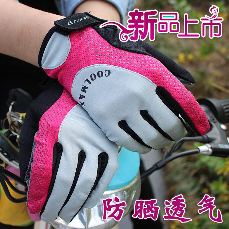 春夏の自転車の手袋の女性はすべて長い屋外の自転車の手袋の単独の車が日よけの男女に滑って手袋に乗って半分を指します。