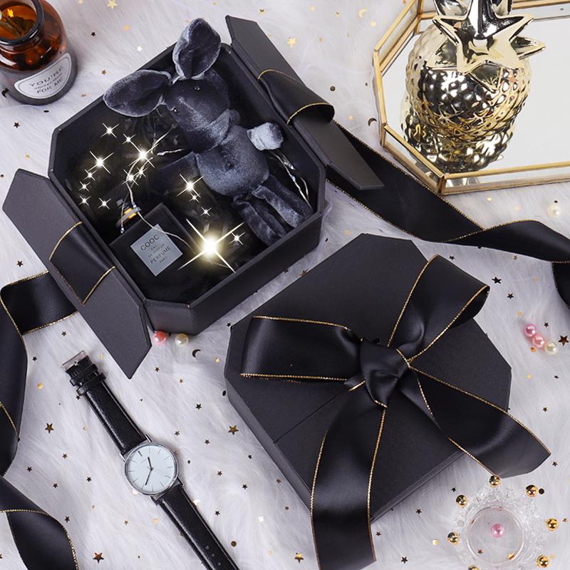 礼物盒子空网红伴手礼盒INS精美韩版生日口红礼品盒男生款包装盒图片
