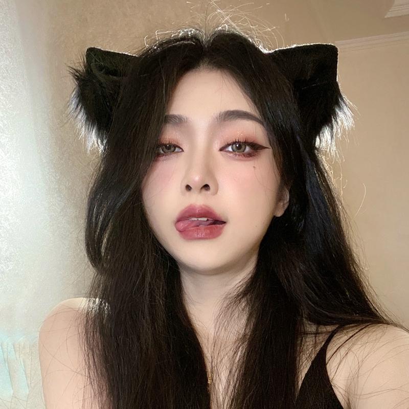 可爱日系发箍猫耳狐狸耳朵头饰头箍兽...