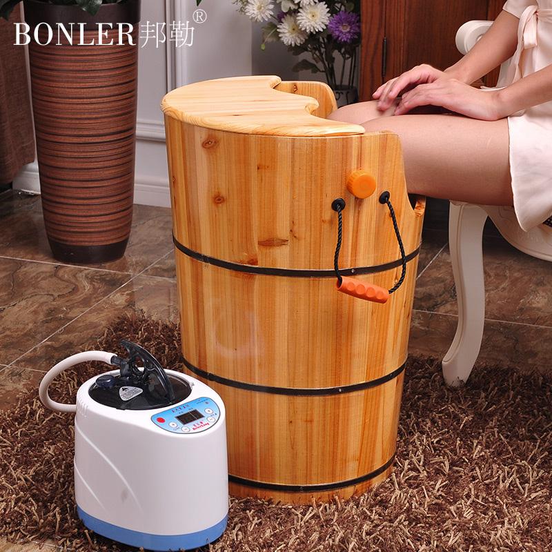 泡脚木桶熏蒸足浴桶按摩洗脚汗蒸盆加热恒温蒸汽足疗家用60cm高腿
