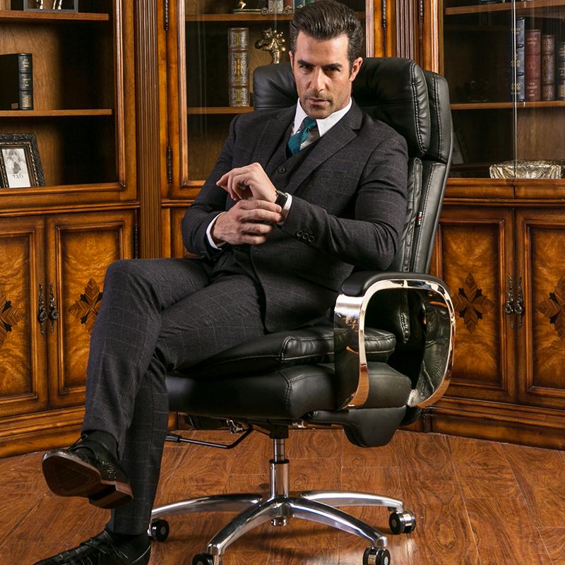 品仪老板椅真皮电脑椅 家用办公椅子可躺按摩大班椅主播电竞座椅